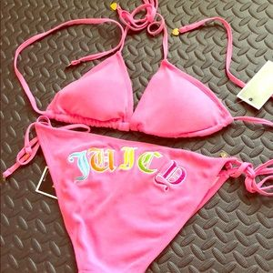 Juicy Couture pink string bikini
